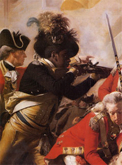Detail from the Death of Major Pierson by Copley