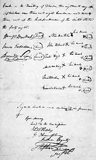 Treaty of Moultrie Creek, signature page