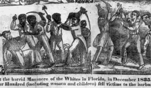 Detail from 1836 engraving depicting Dade's Massacre
