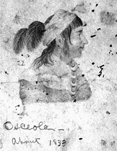 Osceola, copied from Vinton, 1837