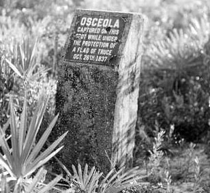 Monument on spot of Osceola's capture