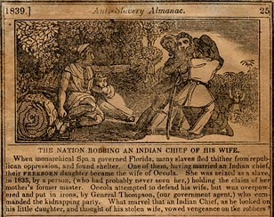 The Nation Robbing an Indian Chief of His Wife