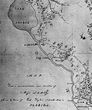 Reconnaisance map from the Second Seminole War