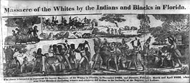 Massacre of the Whites by Indians and Blacks in Florida, 1836 engraving