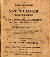 The Confessions of Nat Turner, title page, 1832