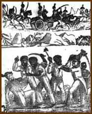 Detail from Massacre of the Whites by the Indians and Blacks in Florida