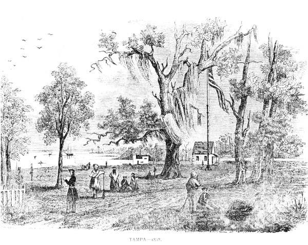 Engraving of Fort Brooke, at Tampa Bay